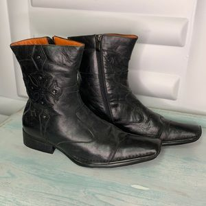 Hand made motorbike leather boots